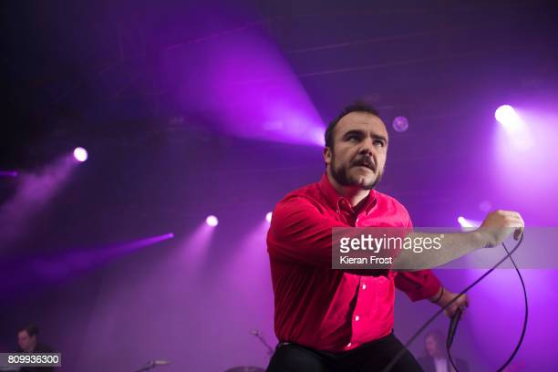 Samuel T Herring of Future Islands performs at Iveagh Gardens on July 6 2017 in Dublin Ireland