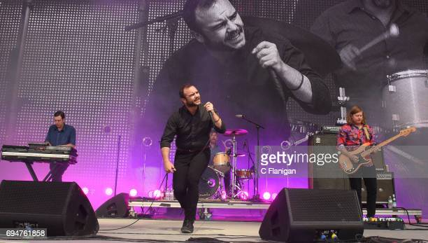 Samuel T Herring of Future Islands performs during the 2017 Bonnaroo Arts And Music Festival on June 10 2017 in Manchester Tennessee