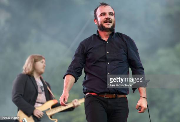 Samuel T Herring of Future Islands performs during the 2017 Outside Lands Music and Arts Festival at Golden Gate Park on August 11 2017 in San...
