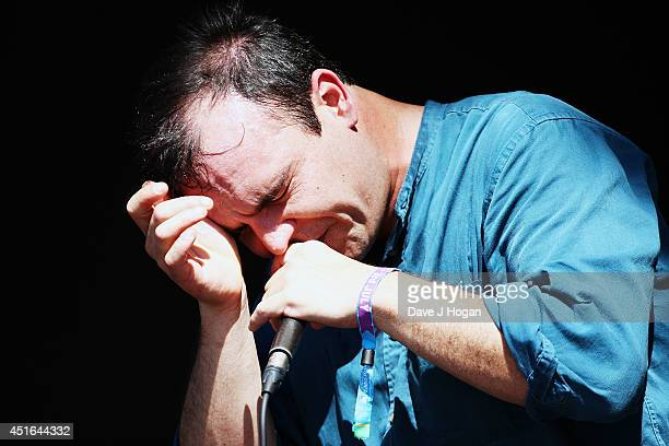 Samuel T Herring of Future Islands performs on stage at British Summer Time Festival at Hyde Park on July 3 2014 in London United Kingdom