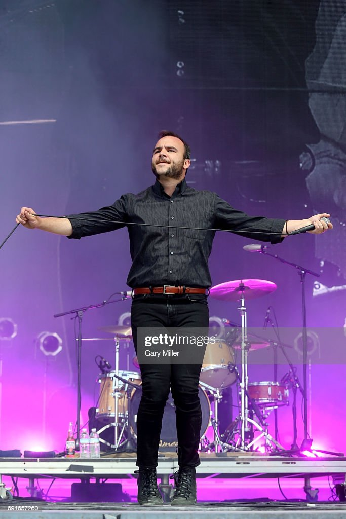 Samuel T. Herring performs in concert with Future Islands during day 3 of the Bonnaroo Music & Arts Festival on June 10, 2017 in Manchester, Tennessee.