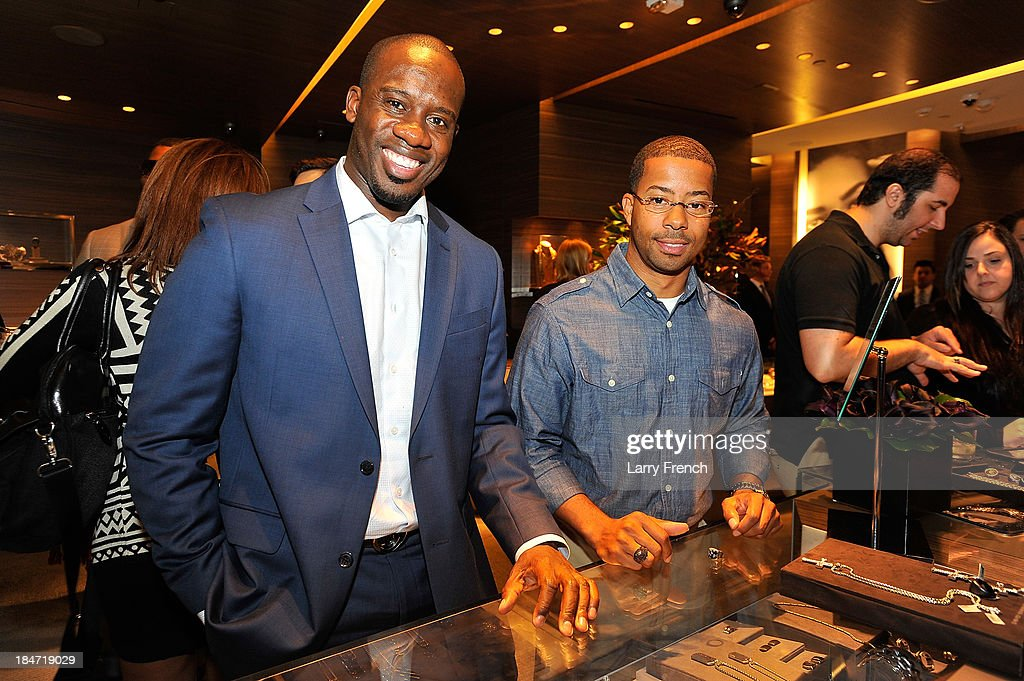 Samuel Tatum and Richard Thompson II are seen at the David Yurman Meteorite Launch With Chris Baker on October 15, 2013 in Mclean, Virginia.