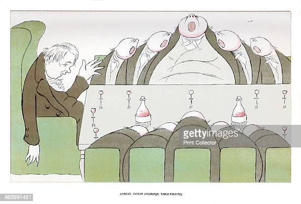 'Samuel Taylor Coleridge TableTalking' 1904 Illustration from The Poets Corner by Max Beerbohm