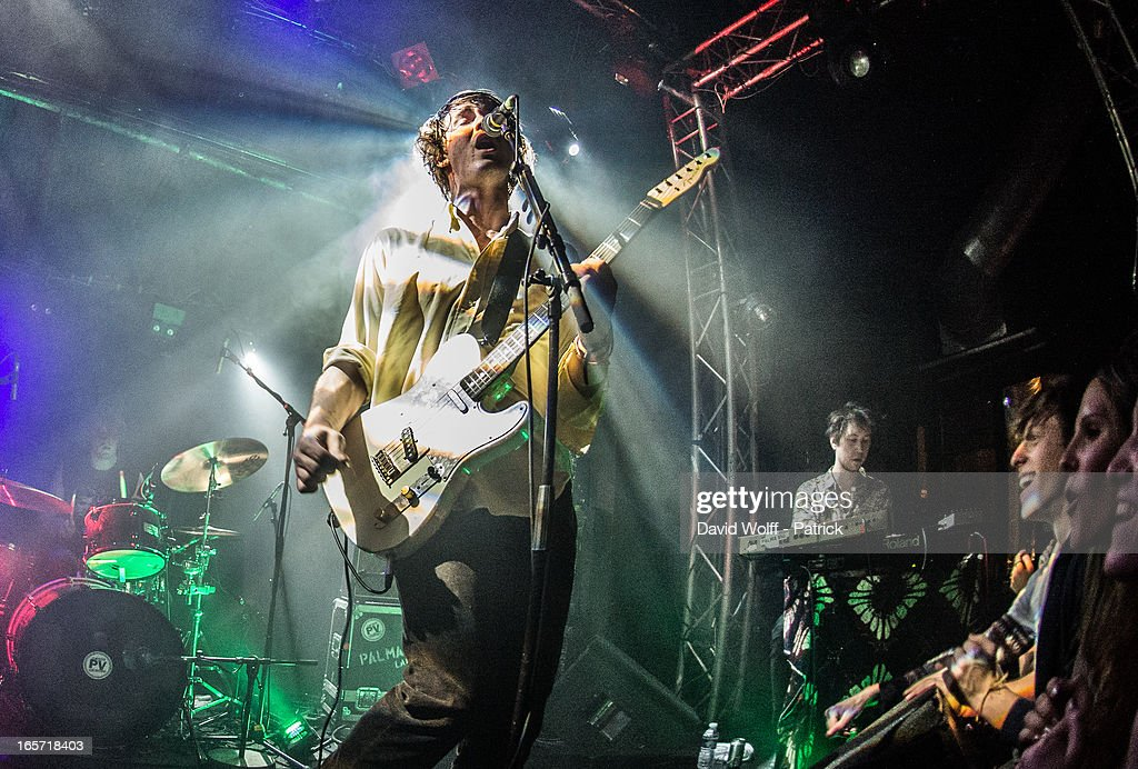 Samuel Thomas Fryer from Palma Violets performs at La Fleche d' Or at on April 5, 2013 in Paris, France.