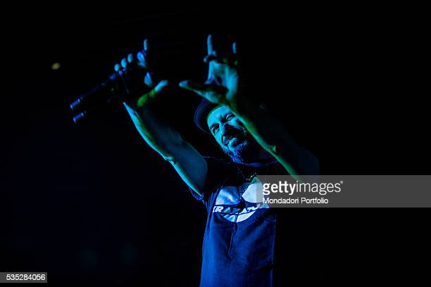 Samuel Umberto Romano frontman of the alternative rock band Subsonica performing at the Fabrique Milan 24th February 2016