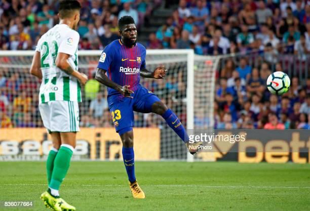 Samuel Umtiti during La Liga match between FC Barcelona v Real Betis Balompie in Barcelona on August 20 2017 hoto Joan Valls/Urbanandsport/Nurphoto