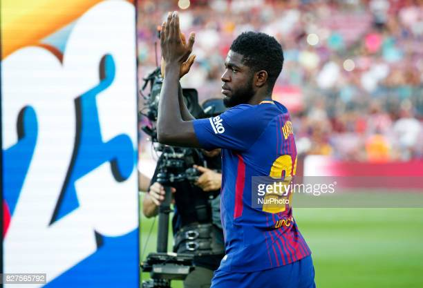 Samuel Umtiti during the presentation of the team 201718 in Barcelona on August 07 2017 Photo JoanValls/Urbanandsport/Nurphoto
