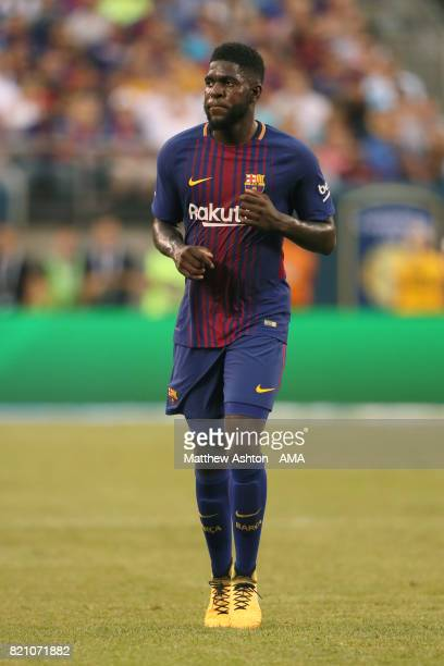 Samuel Umtiti of FC Barcelona during the International Champions Cup 2017 match between Juventus and FC Barcelona at MetLife Stadium on July 22 2017...