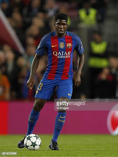 Samuel Umtiti of FC Barcelonaduring the UEFA Champions League group C match between FC Barcelona and Borussia Monchengladbach on December 06 2016 at...