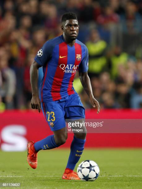 Samuel Umtiti of FC Barcelonaduring the UEFA Champions League round of 16 match between FC Barcelona and Paris Saint Germain on March 08 2017 at the...