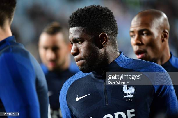 Samuel Umtiti of France before the FIFA World Cup 2018 qualifying match between Luxembourg and France on March 25 2017 in Luxembourg Luxembourg
