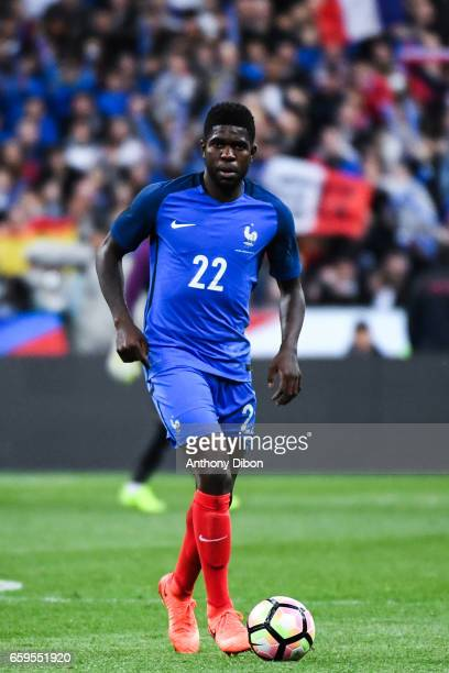 Samuel Umtiti of France during the friendly match France and Spain at Stade de France on March 28 2017 in Paris France