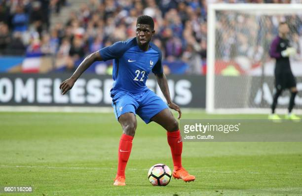 Samuel Umtiti of France during the international friendly match between France and Spain between France and Spain at Stade de France on March 28 2017...
