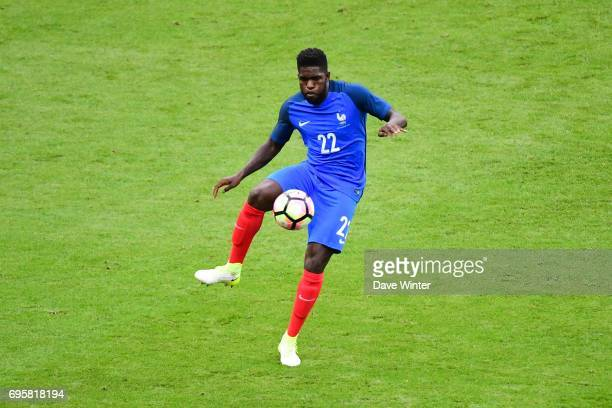 Samuel Umtiti of France during the International friendly match between France and England at Stade de France on June 13 2017 in Paris France