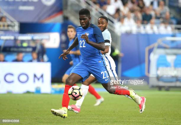 Samuel Umtiti of France during the international friendly match between France and England at Stade de France on June 13 2017 in SaintDenis near...