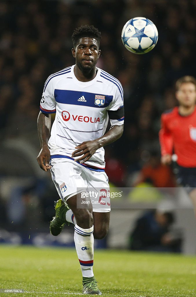 <a gi-track='captionPersonalityLinkClicked' href=/galleries/search?phrase=Samuel+Umtiti&family=editorial&specificpeople=7123899 ng-click='$event.stopPropagation()'>Samuel Umtiti</a> of Lyon in action during the UEFA Champions league match between Olympique Lyonnais (OL) and FC Zenit St Petersburg at Stade de Gerland on November 4, 2015 in Lyon, France.
