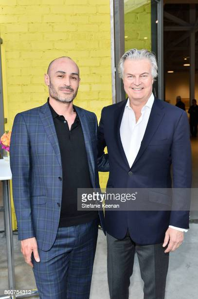 Samuel Vasquez and David Johnson at CalArts Inauguration of President Ravi Rajan | VIP Reception on October 12 2017 in Los Angeles California