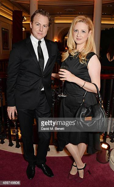 Samuel West and guest attend a champagne reception at the 60th London Evening Standard Theatre Awards at the London Palladium on November 30 2014 in...