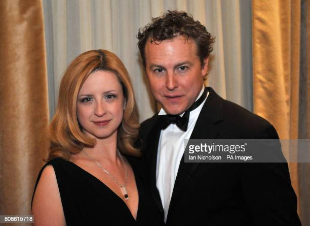 Samuel West and Laura Wade arriving for the London Evening Standard Theatre Awards at the Savoy Hotel