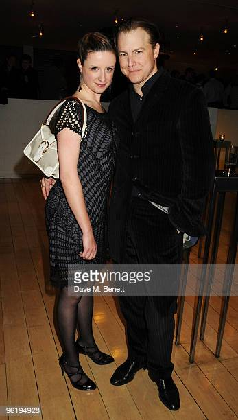 Samuel West and partner attend the afterparty following the press night of 'Enron' at Asia de Cuba in St Martins Lane Hotel on January 26 2010 in...