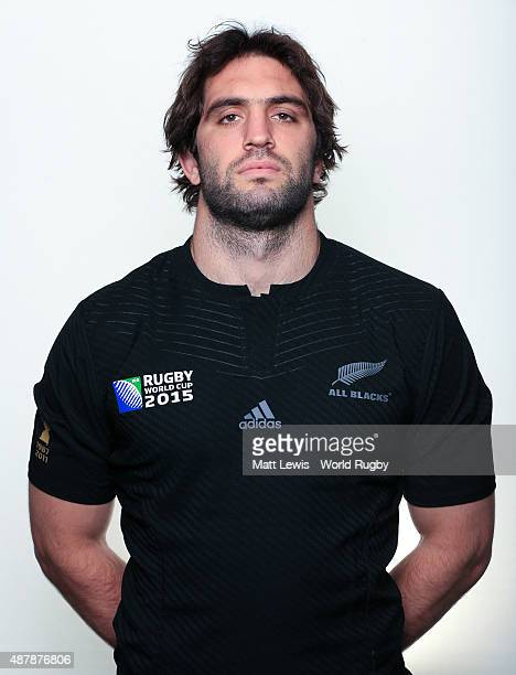 Samuel Whitelock of New Zealand poses for a portrait during the New Zealand Rugby World Cup 2015 squad photo call on September 12 2015 in London...