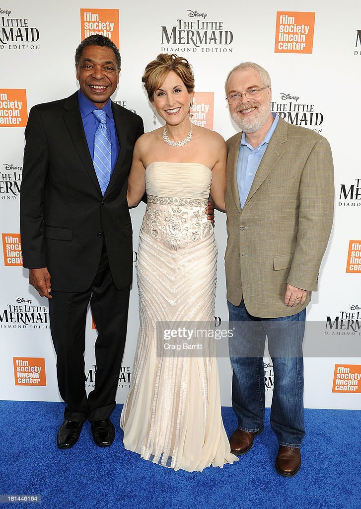 Samuel Wright, <a gi-track='captionPersonalityLinkClicked' href=/galleries/search?phrase=Jodi+Benson&family=editorial&specificpeople=1125674 ng-click='$event.stopPropagation()'>Jodi Benson</a> and <a gi-track='captionPersonalityLinkClicked' href=/galleries/search?phrase=Ron+Clements&family=editorial&specificpeople=3420633 ng-click='$event.stopPropagation()'>Ron Clements</a> attend Disney's The Little Mermaid special screening at Walter Reade Theater on September 21, 2013 in New York City.