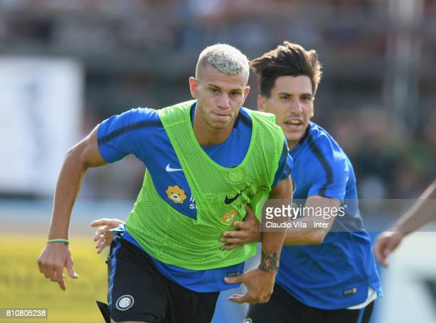Samuele Longo of FC Internazionale in action during the FC Internazionale training session on July 8 2017 in Reischach near Bruneck Italy