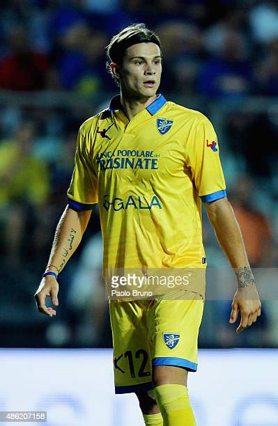 Samuele Longo of Frosinone Calcio looks on during the Serie A match between Frosinone Calcio and Torino FC at Stadio Matusa on August 23 2015 in...