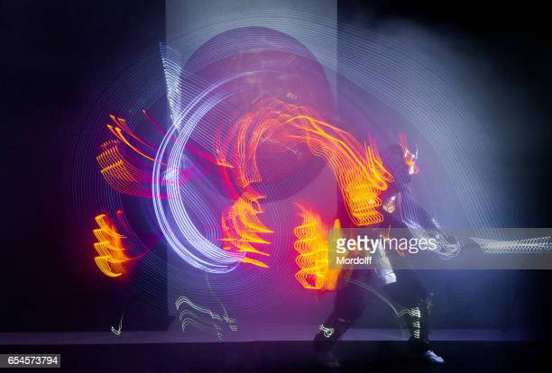 Samurai Dance With LED Glowing Sword