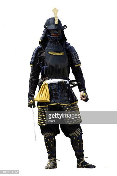 Samurai on white background