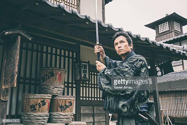 Samurai warrior with katana