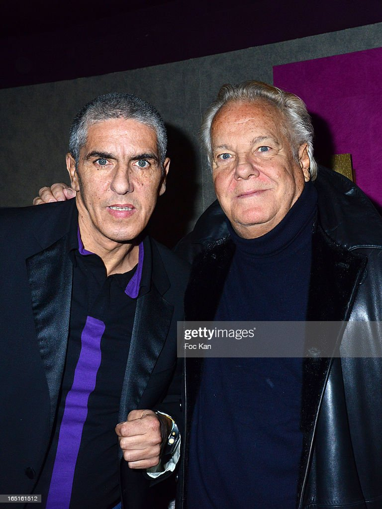 Samy Naceri and <a gi-track='captionPersonalityLinkClicked' href=/galleries/search?phrase=Massimo+Gargia&family=editorial&specificpeople=614932 ng-click='$event.stopPropagation()'>Massimo Gargia</a> attend the 'OmarJeans' Launch Party At The Pavillon Champs Elysees on March 31, 2013 in Paris, France.