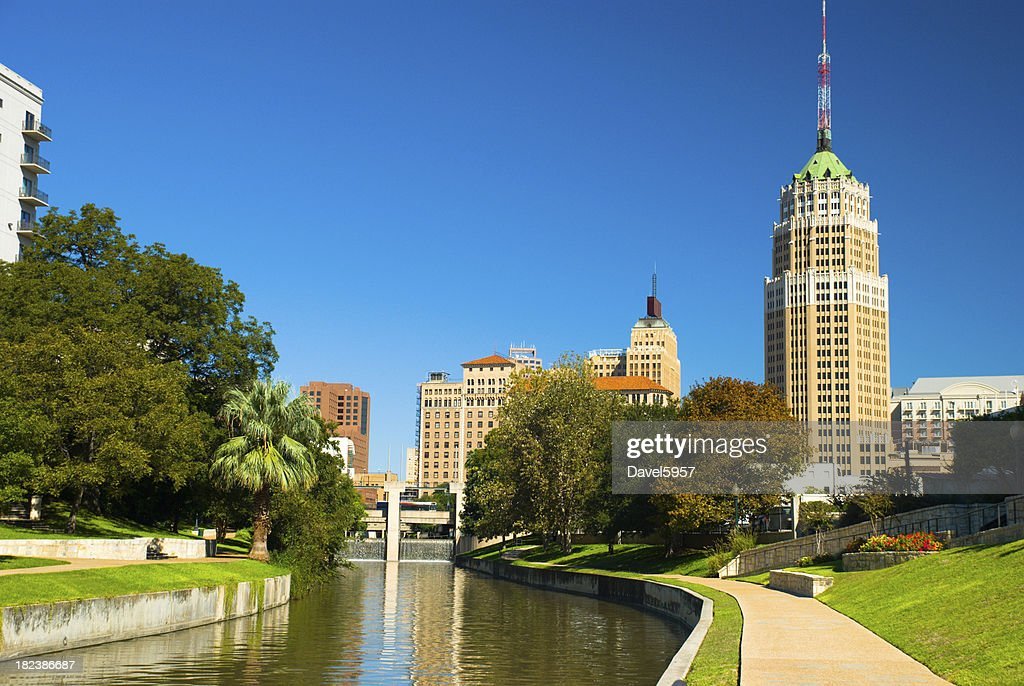 San Antonio Downtown Skyline and Riverwalk