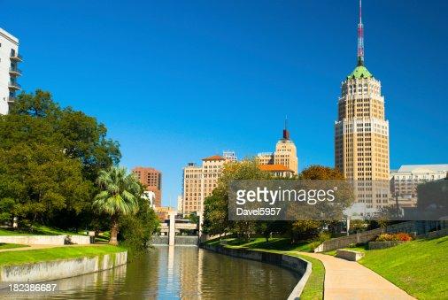 San Antonio Downtown Skyline and Riverwalk