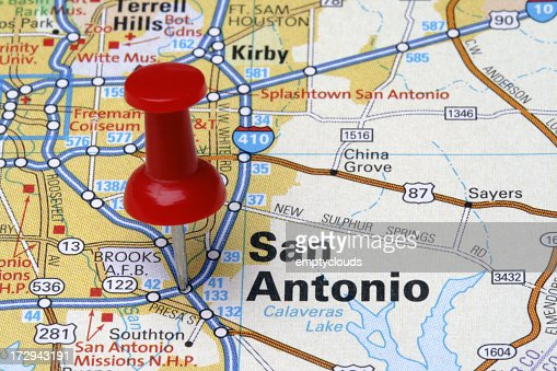San Antonio on a Map