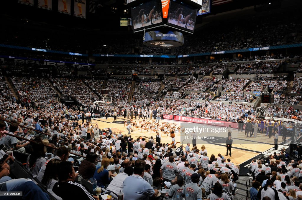 San Antonio Spurs fill the arena for the game against the Los Angeles Lakers in Game Three of the Western Conference Finals during the 2008 NBA...
