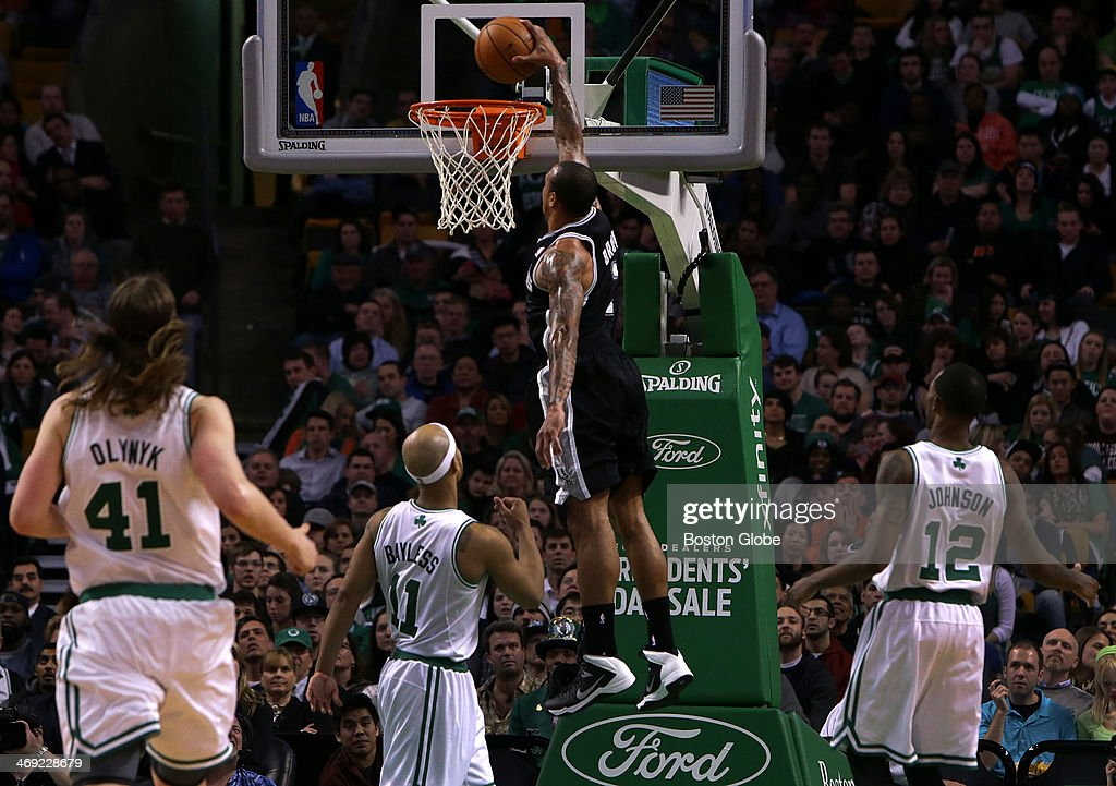 San Antonio Spurs point guard Shannon Brown went coast to coast ending with a monster jam in the third period The Celtics play the San Antonio Spurs...