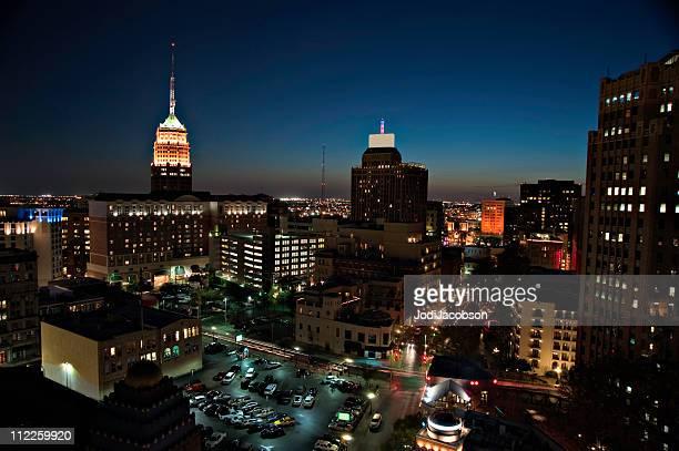 Vista aérea de la ciudad de San Antonio, Texas