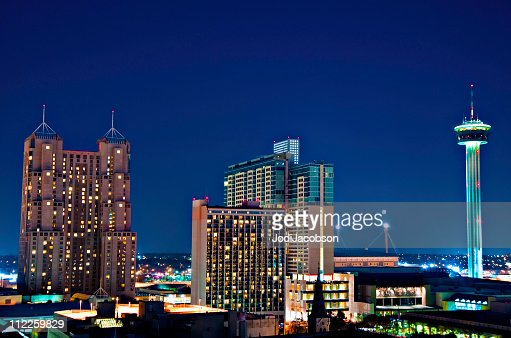 San Antonio Texas City  Aerial Tower of  the America's