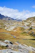 San Bernardino Pass in autumn colors, Switzerland