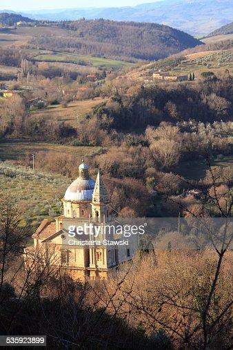San Biagio Church seen from above : Stock Photo