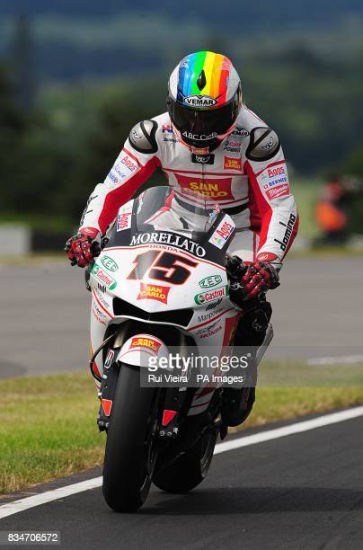 San Carlo Honda's Alex de Angelis at Donington Park