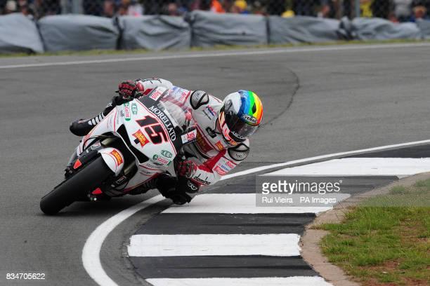 San Carlo Honda's Alex de Angelis during the bwincom British Motorcycle Grand Prix at Donington Park