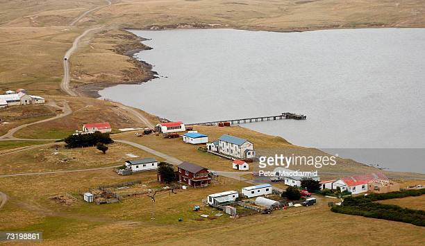 San Carlos settlement on February 3 2007 in San Carlos Falkland Islands