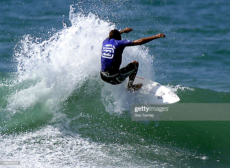 San Clemente––Pro surfer Shea Lopez from San Clemente goes backside to score a 4th round heat win and advance in the Association of Surfing...