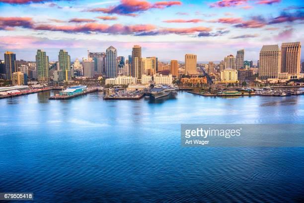 San Diego California Skyline Aerial