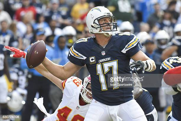 San Diego Chargers Quarterback Philip Rivers throws a pass during an NFL regular game between the Kansas City Chiefs and the San Diego Chargers on...