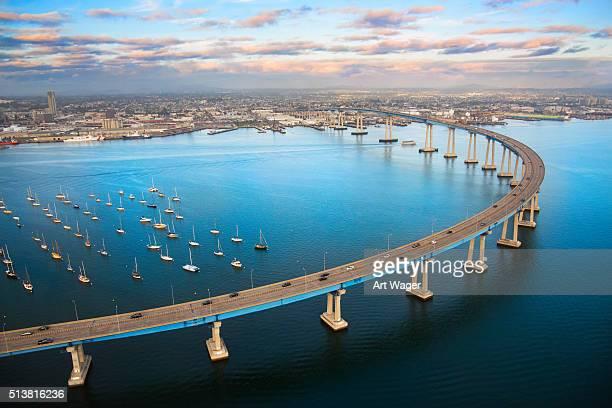 San Diego Ponte della baia di Coronado dall'alto