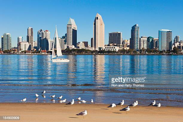 San Diego in California with boats