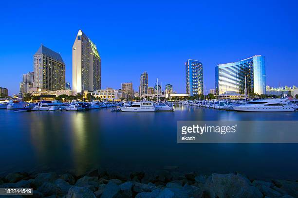 San Diego edifici storici nel crepuscolo